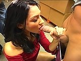 Exotic Brunette Entices Two Dicks
